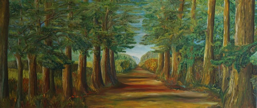 Der Weg ist noch weit B, 2016, 250x108cm, Öl auf Leinwand