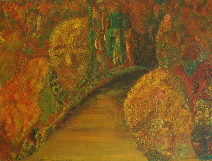 Die Wärme der Nacht, 2015, 112x90cm, Acryl auf Leinwand