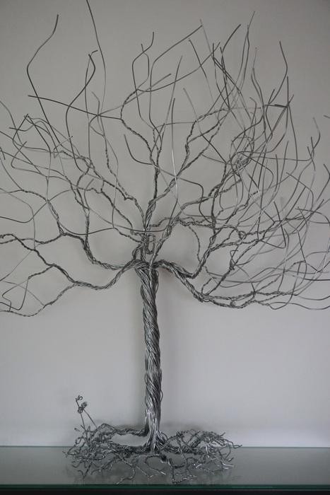 Skulptur: Silberbaum, 2017, 100x90cm, Metall