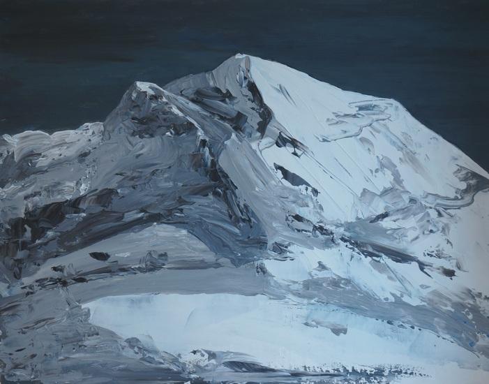 5) Bergfantasie 1 (Öl auf Malerpappe 50x40cm)