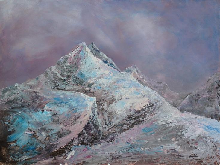 7) Gipfelstimmung (Acryl auf Leinwand 50x40cm)