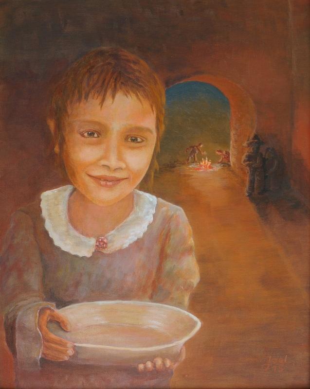 211) Die kleine Roma (Öl auf MDF-Platte 40x50cm)
