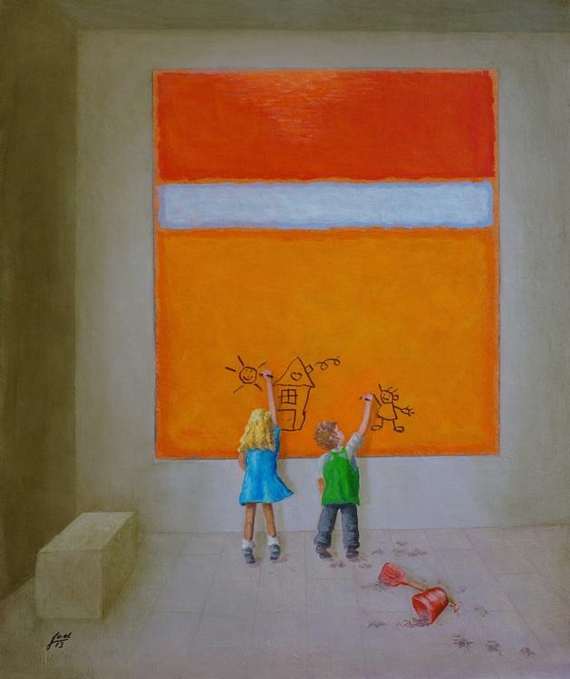 303) Der Museumsbesuch (Improving Rothko) (Öl auf Malerpappe 50 x 60 cm)