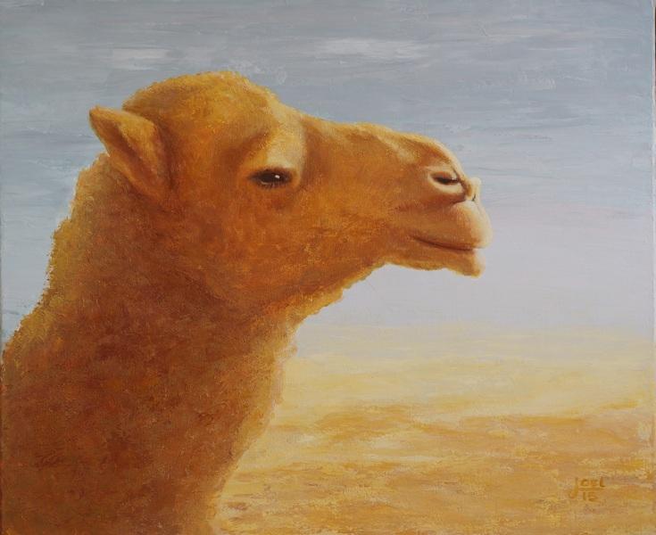 111) Irenes Kamel (Öl auf Leinwand 60 x 80 cm)