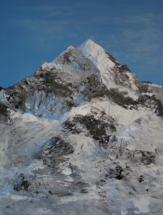 16) Piz Roseg (Acryl auf Malerplatte 60x50cm)