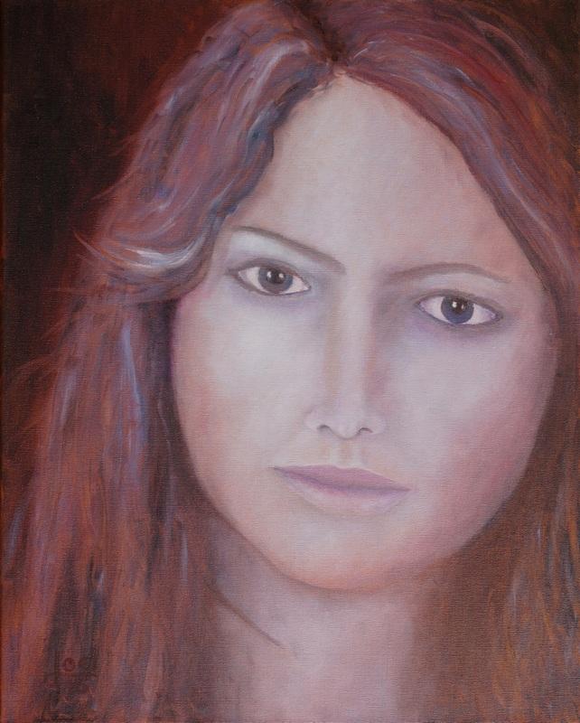 216) Portrait einer Frau (Öl auf Leinwand, 40x50cm)