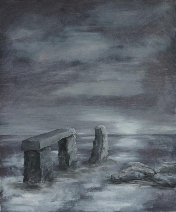26) Stone Henge im Meer (Acryl auf Leinwand 50x60cm)