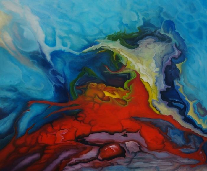 310) Eifersucht (oder sonstige Gefühle) (Öl auf Leinwand 100 x 90 cm)