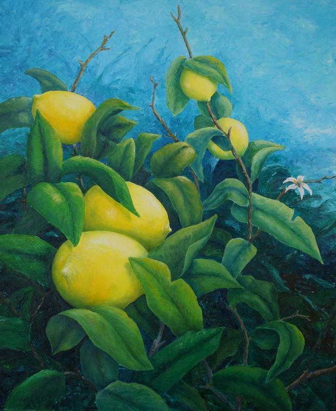 104) Der Zitronenbaum (Öl auf Leinwand 110 x 90 cm)