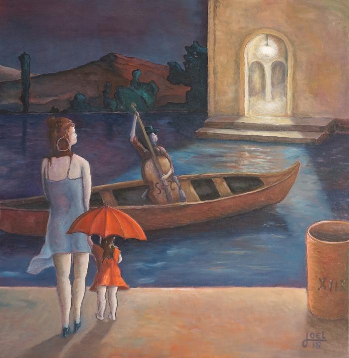 202)  Konzert für Nora und Elli (Öl auf Leinwand, 80 x 80cm)