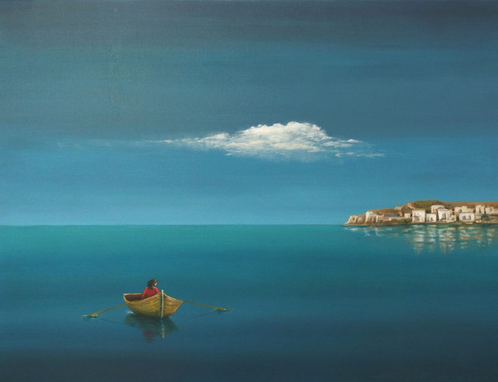 La solitude (Öl auf Leinwand 80x60)
